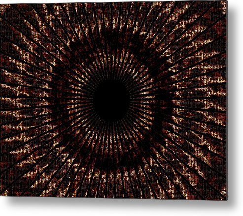 Fire Metal Print featuring the digital art Rings Of Fire by Charleen Treasures