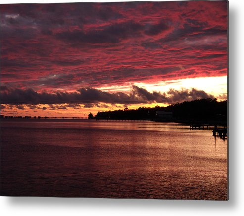 Sunset Metal Print featuring the photograph Rose Colored World by Nicole I Hamilton