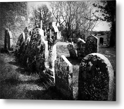 Ireland Metal Print featuring the photograph Solitary Cross At Fuerty Cemetery Roscommon Irenand by Teresa Mucha