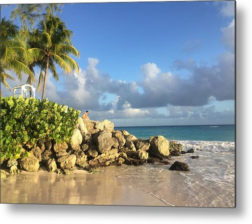 Caribbean Metal Print featuring the photograph Somewhere in Barbados by Cindy Ross