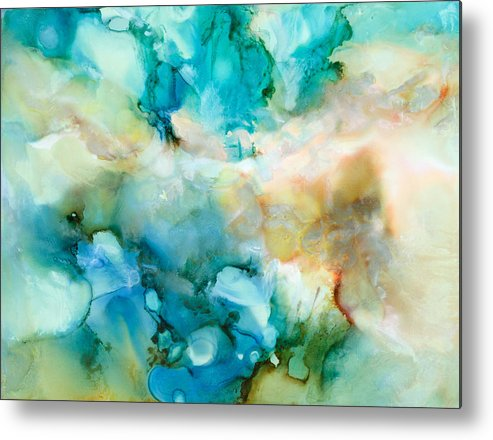 Abstract Metal Print featuring the painting Soul Searching - C - by Sandy Sandy
