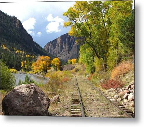 Train Metal Print featuring the photograph South Fork by Carol Milisen