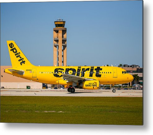 Airplane Metal Print featuring the photograph Spirit Airline by Dart and Suze Humeston