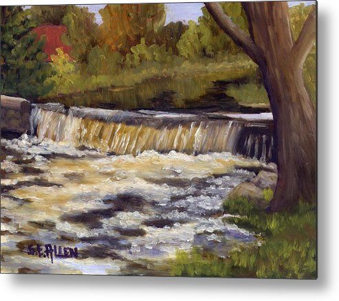 Water Metal Print featuring the painting Spring Flow by Sharon E Allen