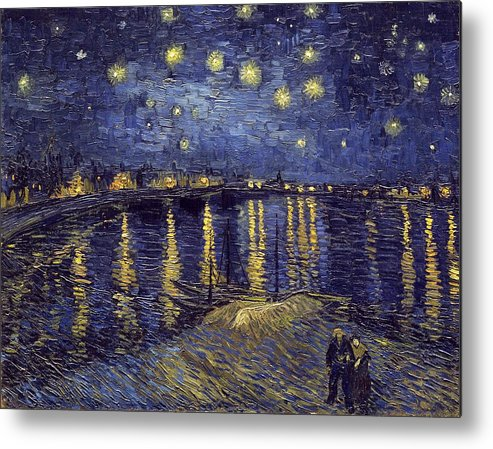 Vincent Van Gogh Metal Print featuring the painting Starry Night Over The Rhone by Van Gogh