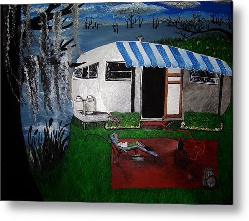 Trailer Metal Print featuring the painting Stereotype by Sharon Supplee