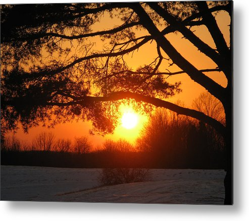 Sunset Metal Print featuring the photograph Sunset in Rising Sun by Martie DAndrea