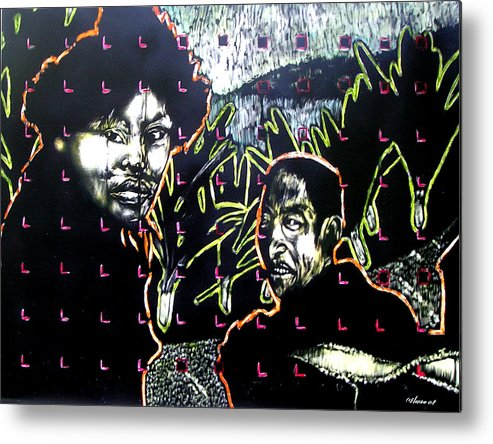 Metal Print featuring the mixed media The Coffee Vendor by Chester Elmore