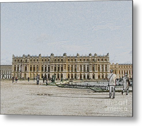 Palace Metal Print featuring the photograph The Palace of Versailles by Amanda Barcon