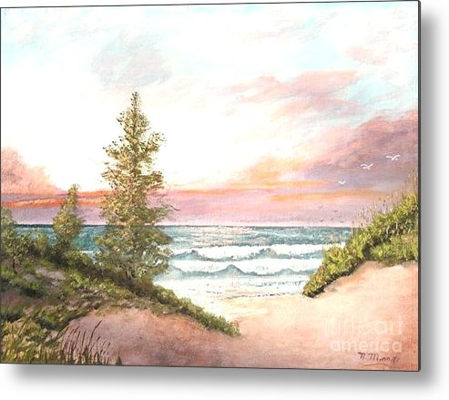 Shore Metal Print featuring the painting The Shore by Nicholas Minniti