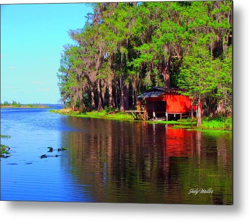 Lake Metal Print featuring the photograph The View From The Bench by Judy Waller