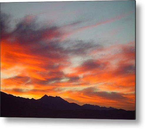 Sunrise Metal Print featuring the painting Timponogos Sunrise by Derek Nielsen