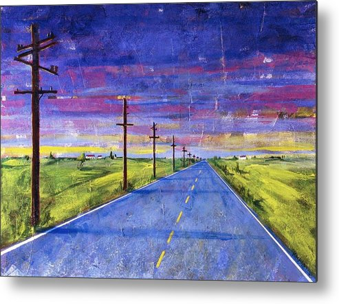 Road Metal Print featuring the painting To Be With You by Rollin Kocsis