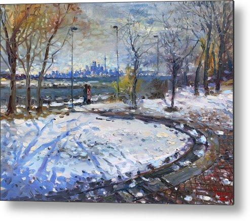 Toronto Skyline Metal Print featuring the painting Toronto Skyline by Ylli Haruni