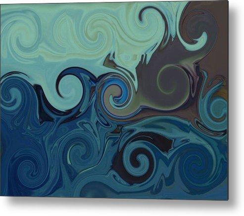 Ocean Metal Print featuring the digital art Trippy by Melanie Plummer