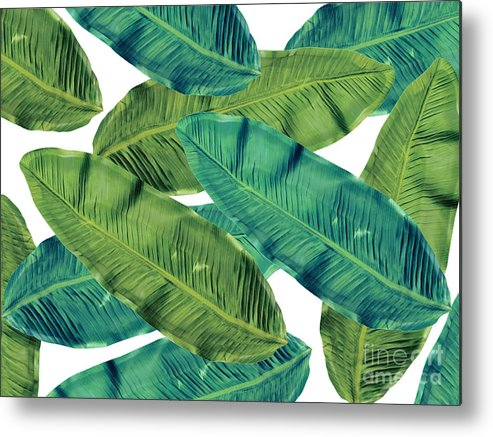 Summer Metal Print featuring the digital art Tropical Colors 2 by Mark Ashkenazi
