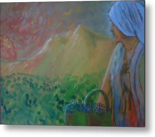 Sunset Metal Print featuring the painting Tuscan Sunset by J Bauer