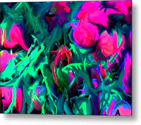 Abstract Metal Print featuring the digital art Twisted by Ian MacDonald