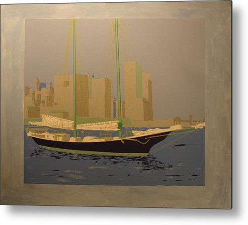 Metal Print featuring the painting Two masts colored by Biagio Civale
