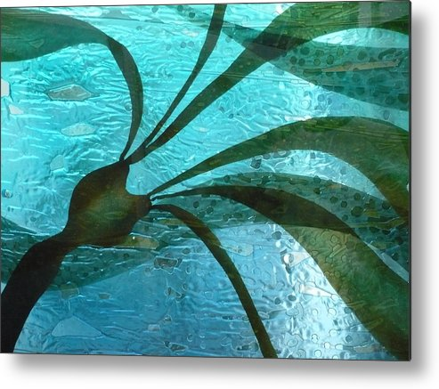 Underwater Metal Print featuring the painting Under Currents  detail by Rick Silas