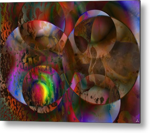 Colors Metal Print featuring the digital art Vision 24 by Jacques Raffin