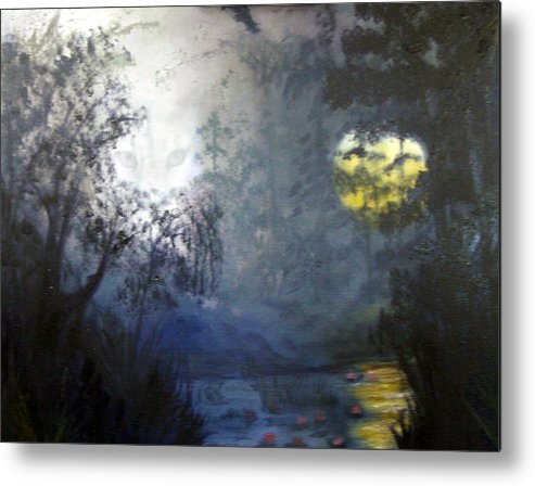 Swamp Metal Print featuring the painting Where Are We To Go by Darlene Green