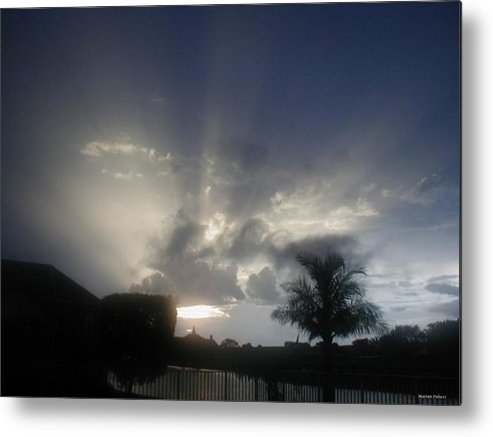 Sunset Metal Print featuring the photograph White Light by Marian Palucci-Lonzetta