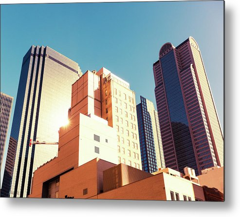 Financial Building Metal Print featuring the photograph Architecture, Dallas Financial District by Moreiso