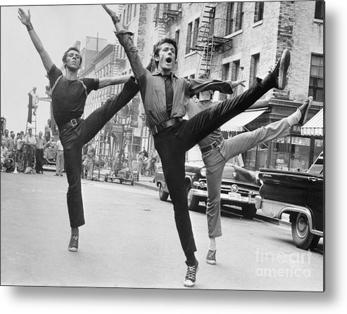 Film Crew Metal Print featuring the photograph Dance Scene From West Side Story by Bettmann
