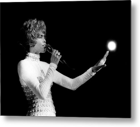 Whitney Houston Metal Print featuring the photograph Whitney Houston Live In Concert by Raymond Boyd