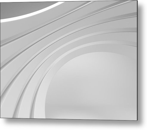 Arch Metal Print featuring the photograph 3d Abstract Architecture Background by Me4o