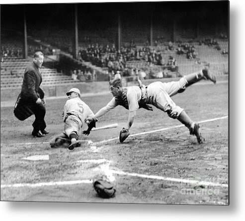 Catching Metal Print featuring the photograph National Baseball Hall Of Fame Library by National Baseball Hall Of Fame Library