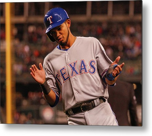 Ninth Inning Metal Print featuring the photograph Texas Rangers V Seattle Mariners by Otto Greule Jr