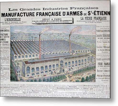 Loire Valley Metal Print featuring the drawing Arms Manufacturing Industry, St by Print Collector
