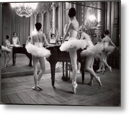 Ballet Dancer Metal Print featuring the photograph Ballerinas At The Paris Opera Doing by Alfred Eisenstaedt