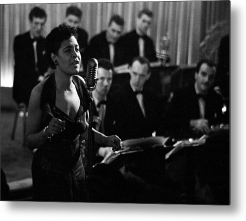 Singer Metal Print featuring the photograph Billie Holiday by Charles Hewitt