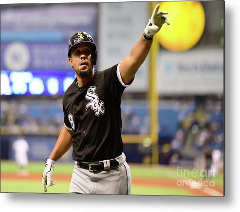 Three Quarter Length Metal Print featuring the photograph Chicago White Sox V Tampa Bay Rays by Julio Aguilar