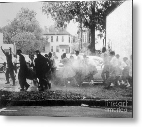 Hose Metal Print featuring the photograph Civil Rights Demonstrators Getting by Bettmann