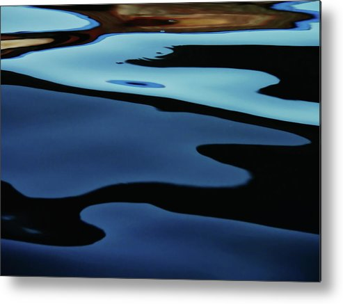 Scenics Metal Print featuring the photograph Colorful Water Background Abstract by Lubilub