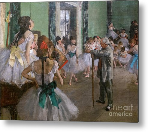 Dance Metal Print featuring the painting Degas, The Dance Class Detail by Edgar Degas