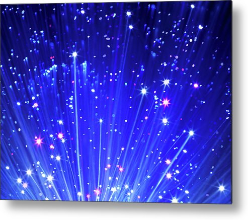 Technology Metal Print featuring the photograph Fiber Optic Cables by Gandee Vasan