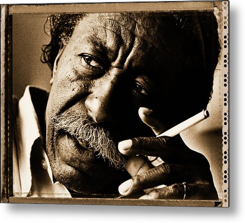 1980-1989 Metal Print featuring the photograph Gordon Parks by George Rose