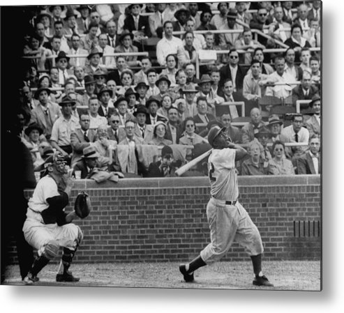 Timeincown Metal Print featuring the photograph Jackie Robinson by Francis Miller