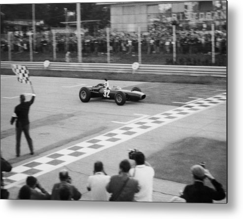 People Metal Print featuring the photograph Jackie Stewart Victory by Keystone