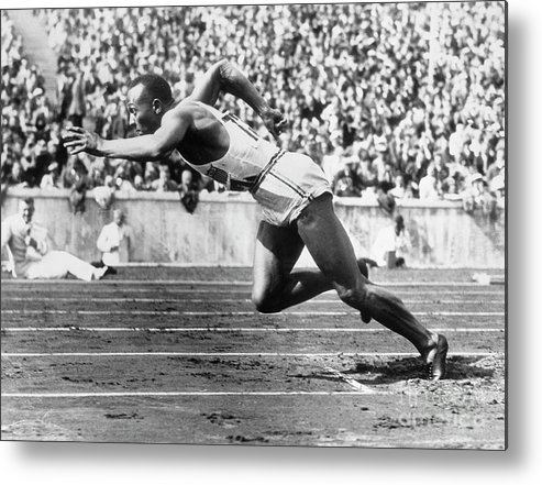 People Metal Print featuring the photograph Jesse Owens At Start Of Race by Bettmann