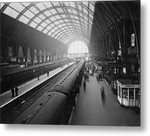 Passenger Train Metal Print featuring the photograph Kings Cross Station by Macgregor