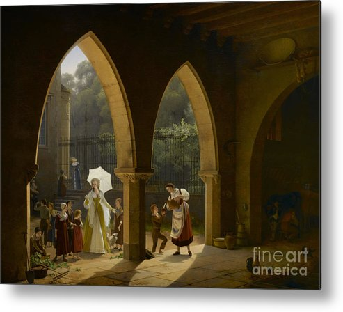 Oil Painting Metal Print featuring the drawing Madame Élisabeth De France, Sister by Heritage Images
