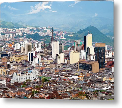 Built Structure Metal Print featuring the photograph Manizales City View, Colombia by Holgs