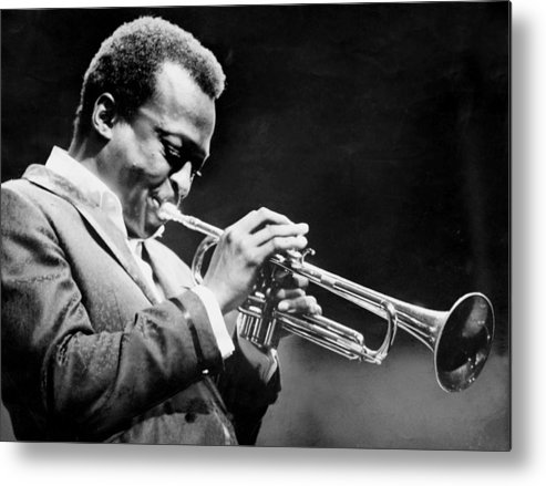 Performance Metal Print featuring the photograph Miles Davis Performs At The Newport by New York Daily News Archive