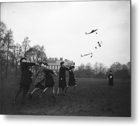 Child Metal Print featuring the photograph Model Aeroplanes by Fox Photos